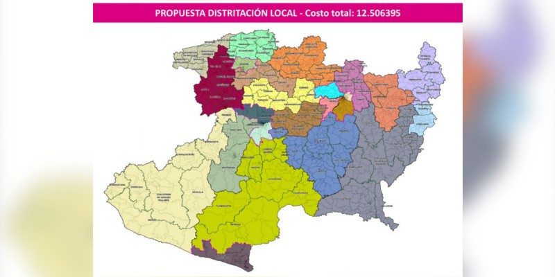 INE Michoacán presenta distritación federal