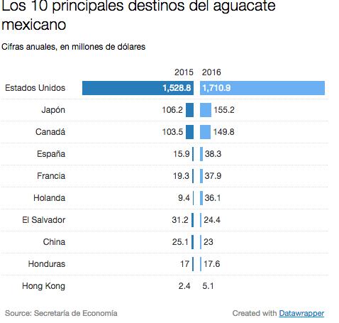 La importancia del aguacate para México y para Michoacán