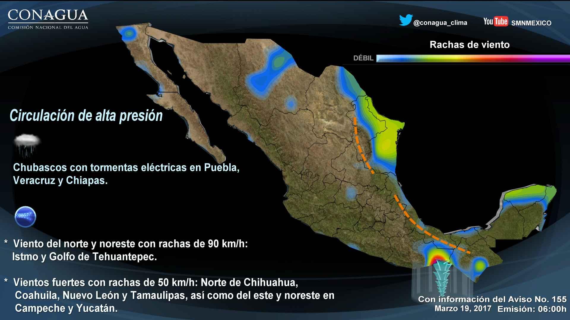 Para hoy domingo, importante disminución en el potencial de lluvias sobre gran parte del pais