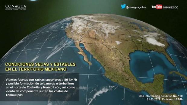 Esta noche de martes dominará ambiente seco y cálido en la mayor parte del país