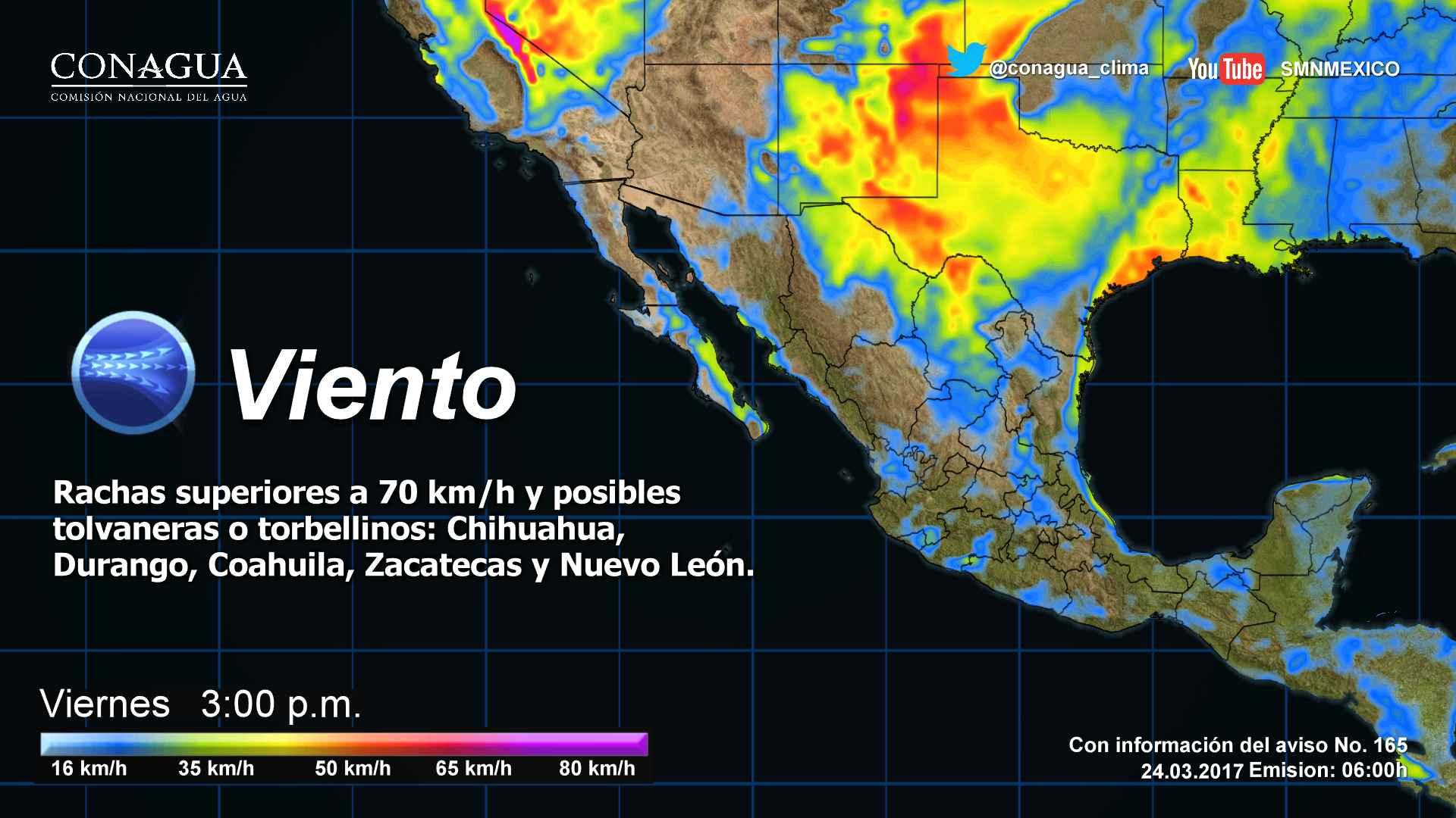 Ambiente caluroso y bajo potencial de lluvia dominará en el Estado de Michoacán y en el resto del país