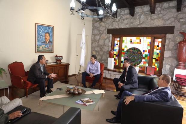Recibe secretario de Gobierno a presidente municipal de Morelia para atender temas de seguridad