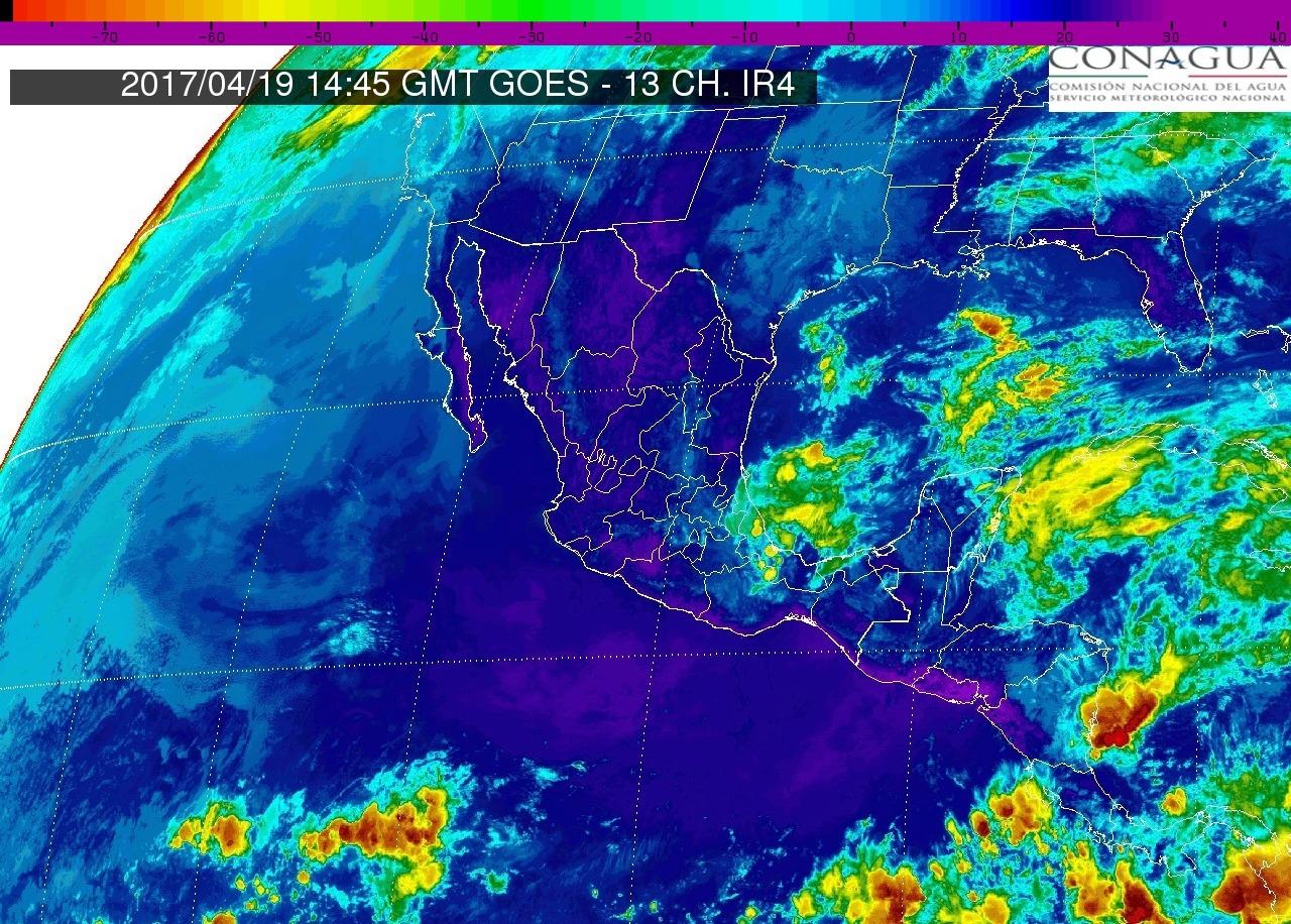 Continuarán las lloviznas en Michoacán (0.1 a 5 mm), ambiente caluroso y viento del oeste y noroeste de 15 a 30 km/h