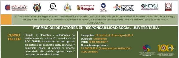 Ofrece UMSNH taller en línea sobre Responsabilidad Social Universitaria