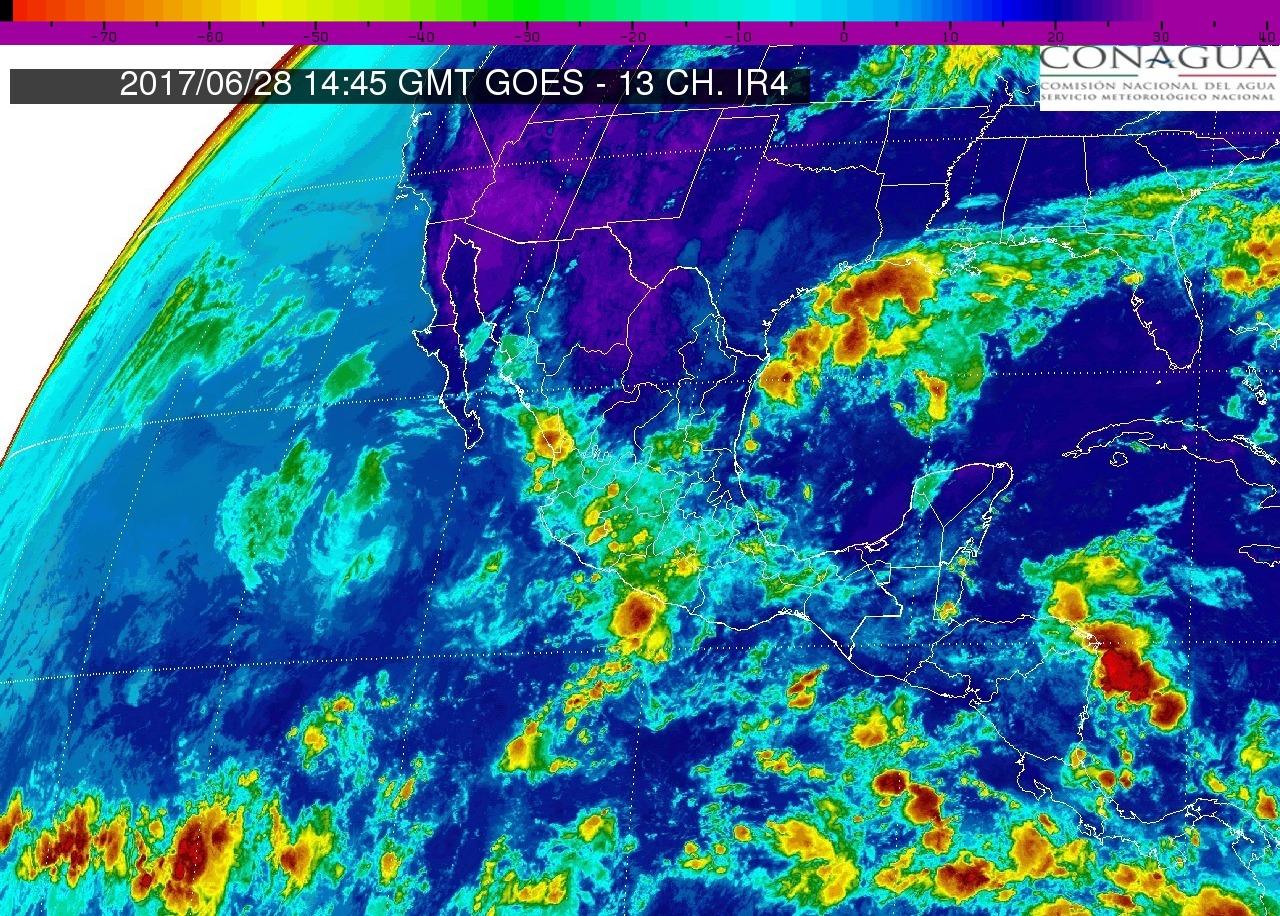 Este miércoles cielo nublado, 60% de probabilidad de tormentas puntuales muy fuertes en Michoacán