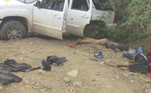 Balacera que dura dos días, deja siete hombres asesinados en la Sierra de Guerrero