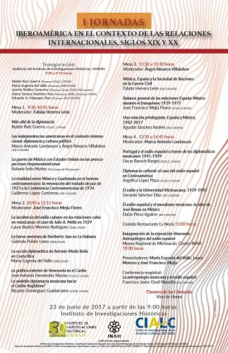 """Inician Primeras Jornadas """"Iberoamérica en el contexto de las relaciones internacionales, siglos XIX y XX"""" en la UMSNH"""