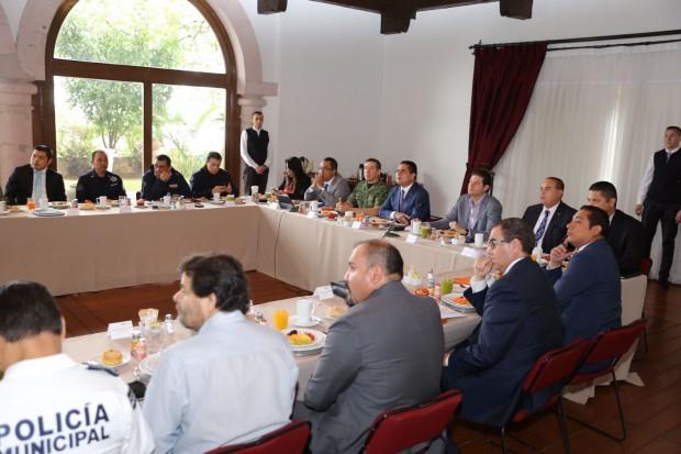 Encabeza Gobernador la reunión del Grupo de Coordinación para la Seguridad Local de Morelia
