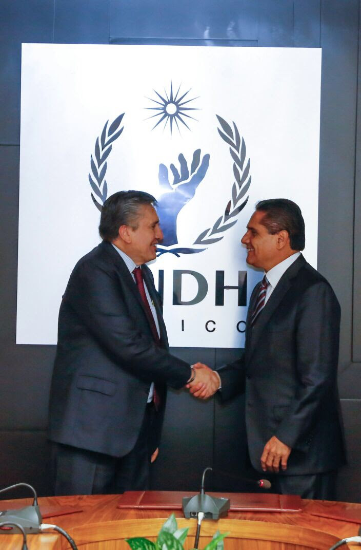 Silvano Aureoles se reúne con el presidente de la CNDH