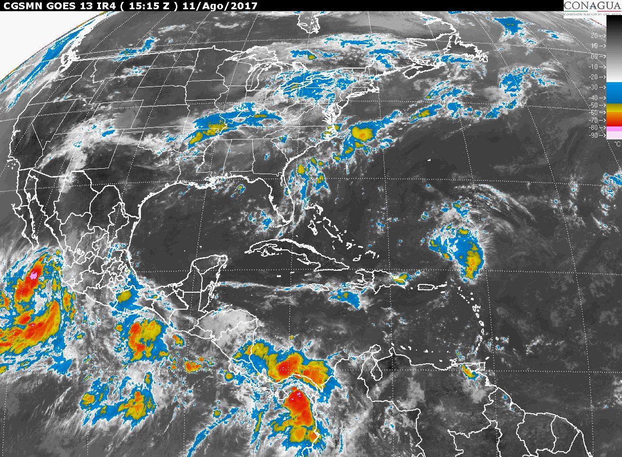 Tormentas fuertes con puntuales muy fuertes (50 a 75 mm) en Michoacán, este viernes