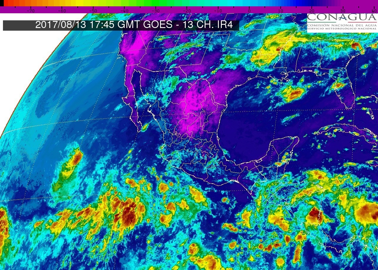 Intervalos de chubascos con tormentas puntuales fuertes (25 a 50 mm) en Michoacán, este domingo