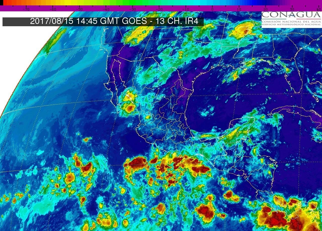 Tormentas fuertes con puntuales muy fuertes (50 a 75 mm) en Michoacán, hoy martes