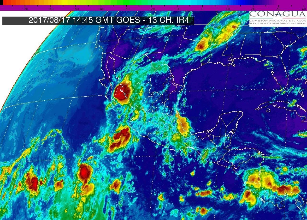 Cielo nublado por la tarde, 80% de probabilidad de tormentas puntuales muy fuertes en Michoacán, hoy jueves