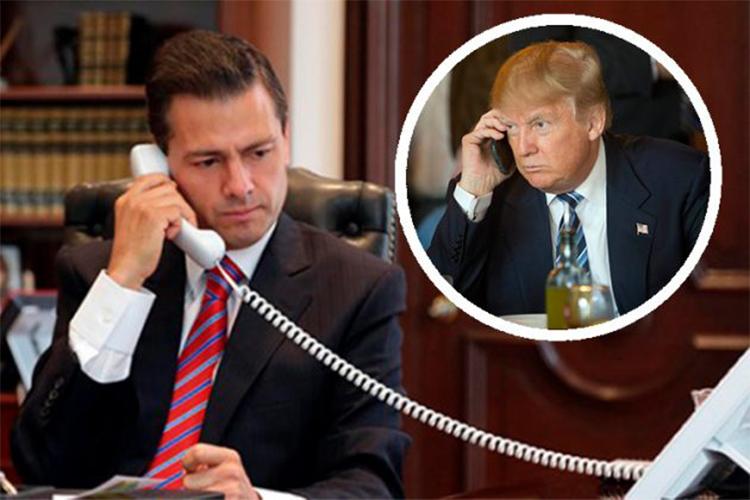 Donald Trump le pidió a Peña Nieto que dejara de decir que México no pagará el muro