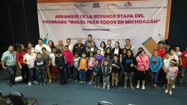 Arranca la segunda etapa del Programa Inglés Para todos en Michoacán