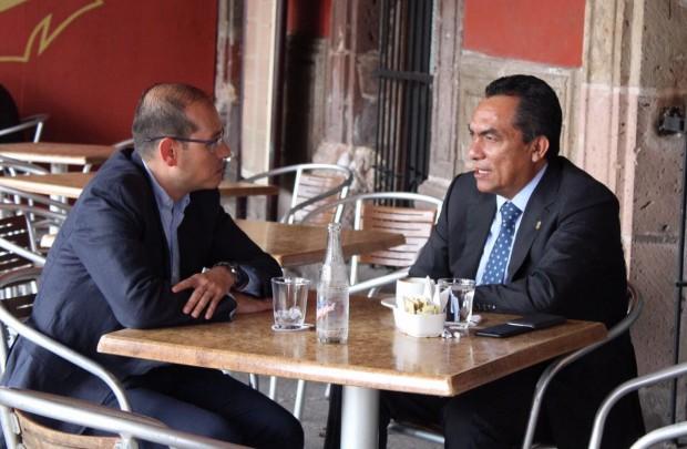 Se reúne Secretario de Gobierno con el dirigente estatal del PAN