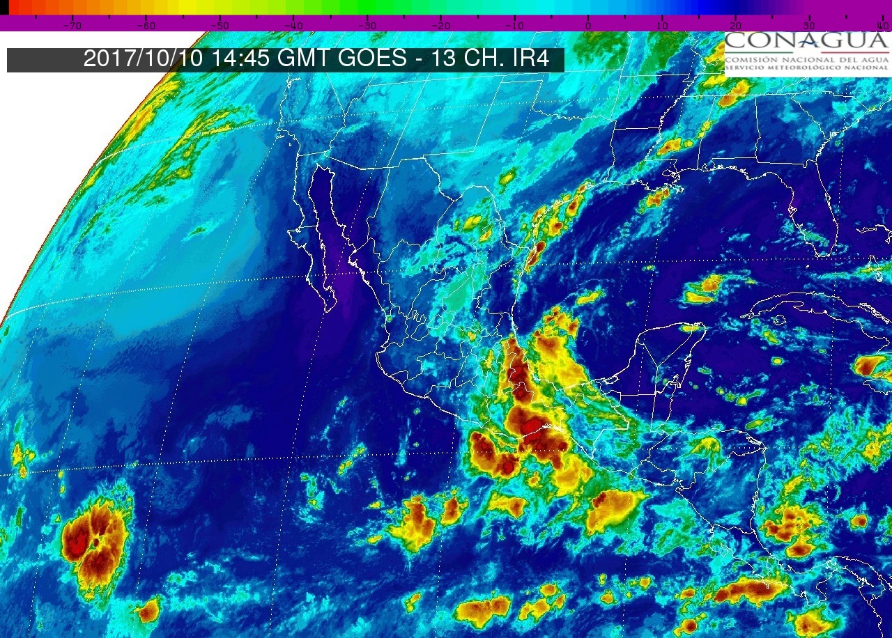 Continuarán este martes los intervalos de chubascos con tormentas puntuales fuertes (25 a 50 mm) en Michoacán
