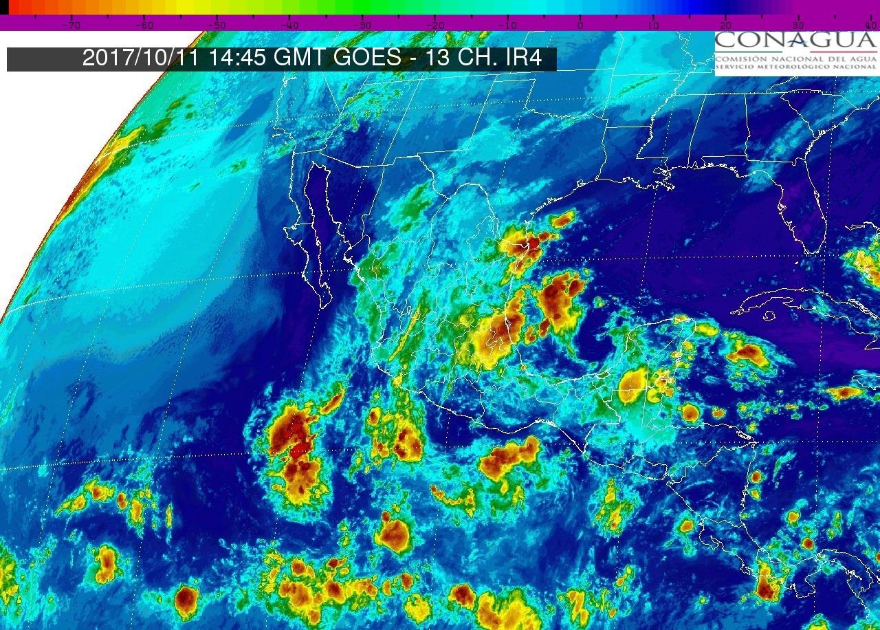 Tormentas fuertes con puntuales muy fuertes (50 a 75 mm) este miércoles en Michoacán
