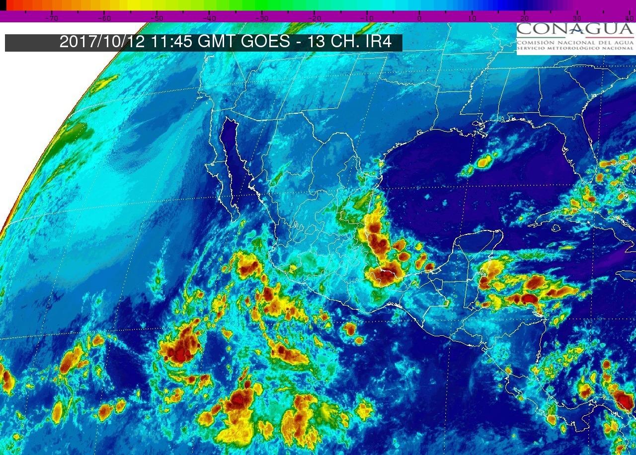 Intervalos de chubascos con tormentas puntuales fuertes (25 a 50 mm) este jueves en Michoacán