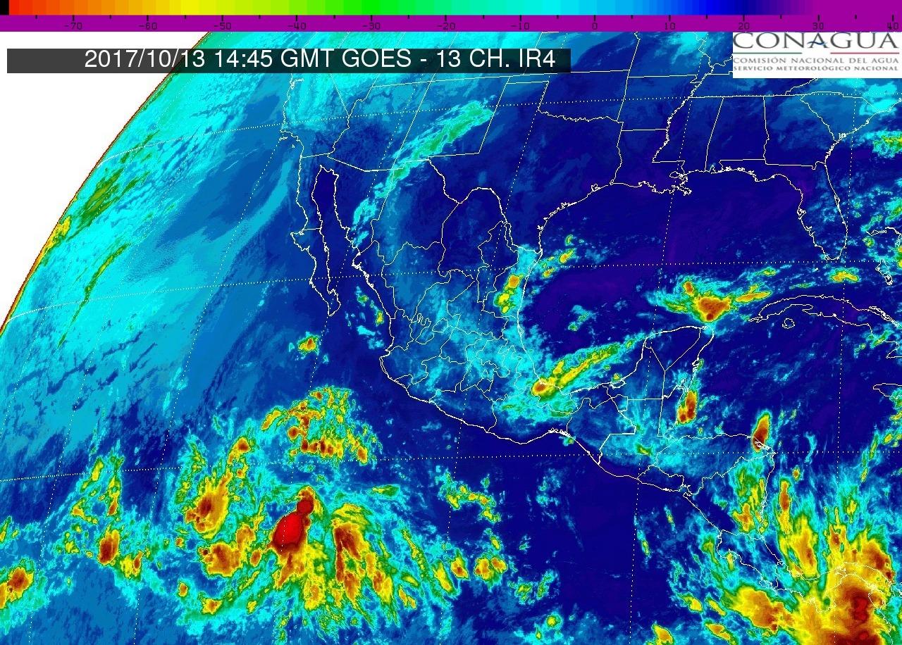 Intervalos de chubascos con tormentas puntuales fuertes (25 a 50 mm) hoy viernes en Michoacán