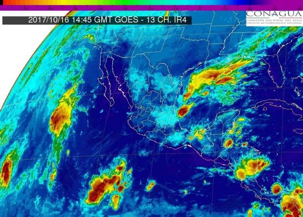 Lluvias con intervalos de chubascos (5.1 a 25 mm) en Michoacán, este lunes