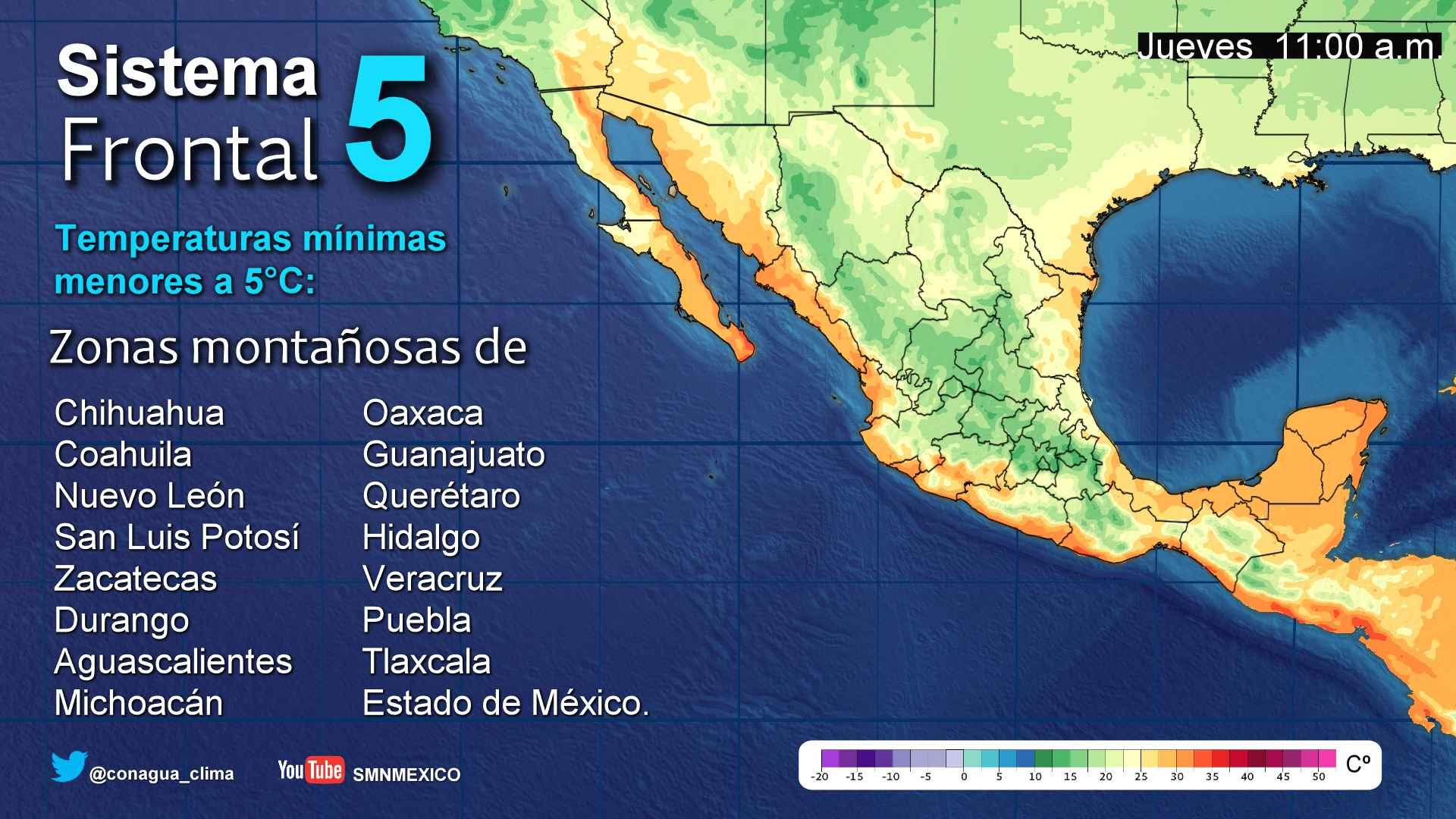 Cielo despejado la mayor parte del día, con intervalos de chubascos vespertinos en Michoacán, este jueves