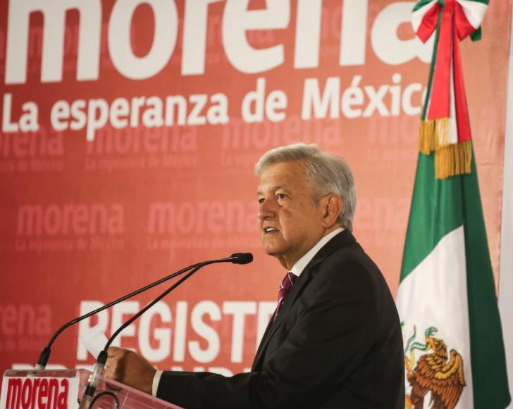 Palabras de AMLO en su registro como precandidato a la Presidencia de la República