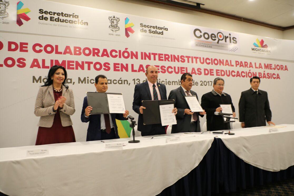 Firman SEE y SSM Convenio Interinstitucional para la Mejora en los Alimentos de las Escuelas