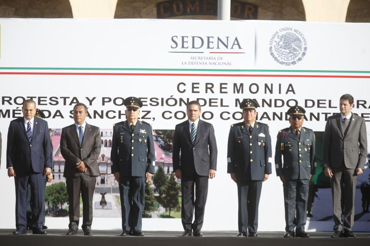 Atestigua Silvano Aureoles protesta de nuevo mando de la 21 Zona Militar