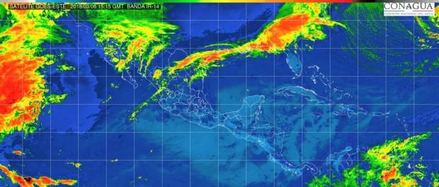 Lloviznas aisladas (0.1 a 5 mm): Michoacán, Guerrero y Quintana Roo, este martes