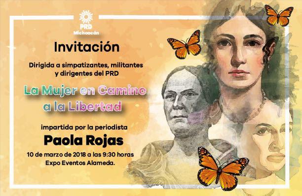 Por Día de la Mujer, Paola Rojas impartirá conferencia en Morelia: PRD