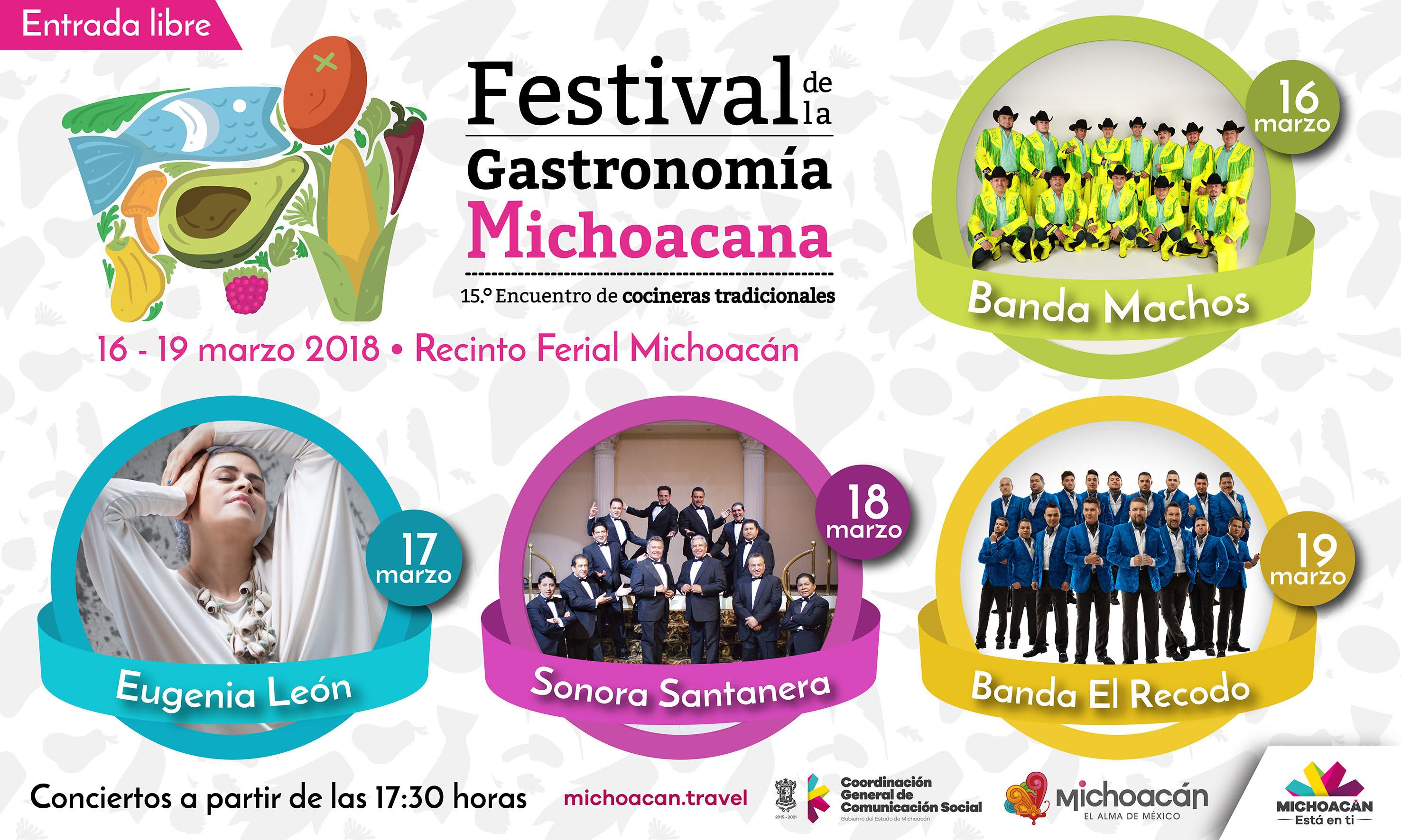 Conciertos gratuitos en el Festival de la Gastronomía Michoacana