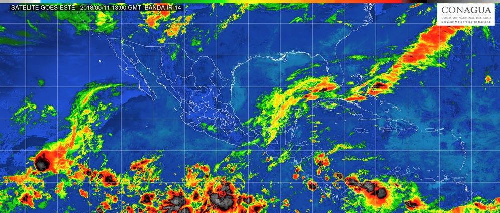 Intervalos de chubascos con tormentas puntuales fuertes (25 a 50 mm), en Michoacán, este viernes