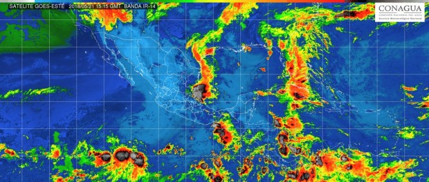 Cielo despejado por la mañana, con incremento de nubosidad por la tarde y potencial de chubascos con actividad eléctrica en Michoacán, este lunes