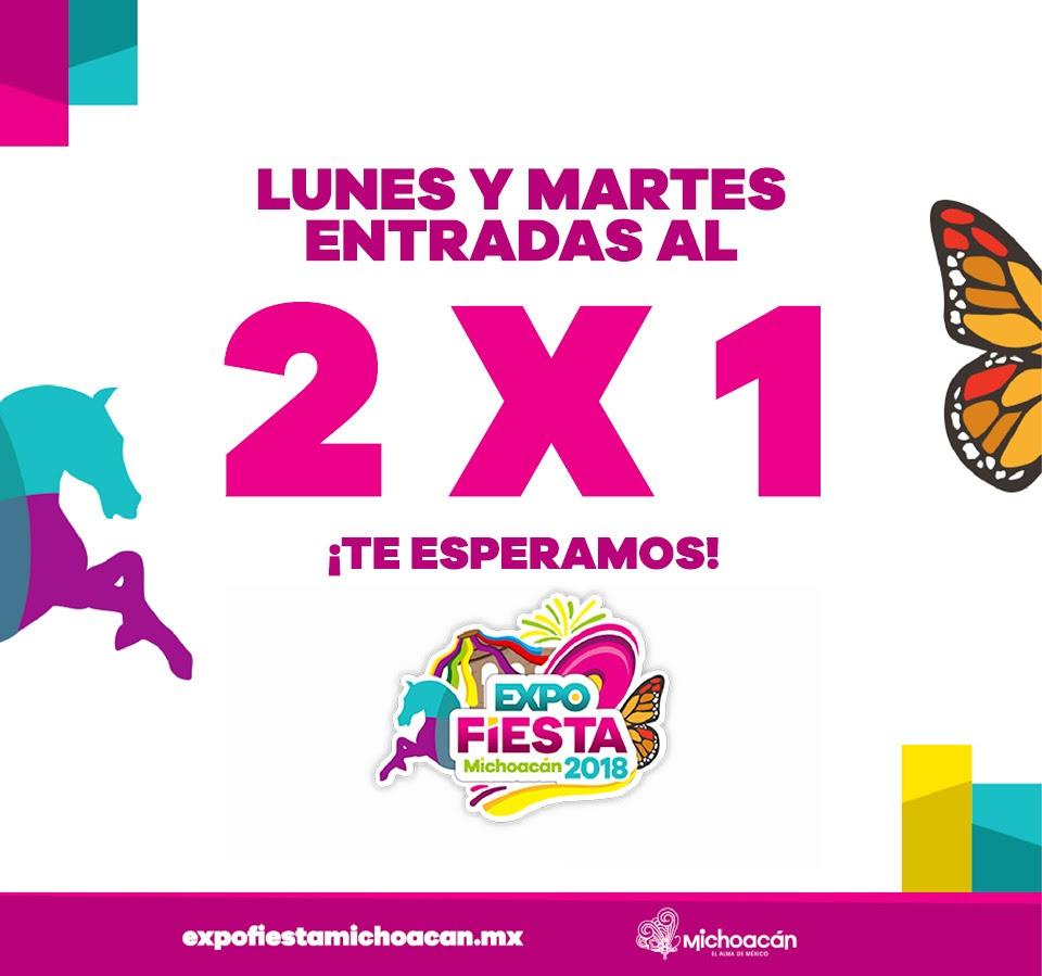 Hoy, 2×1 la entrada a la Expo Fiesta Michoacán 2018