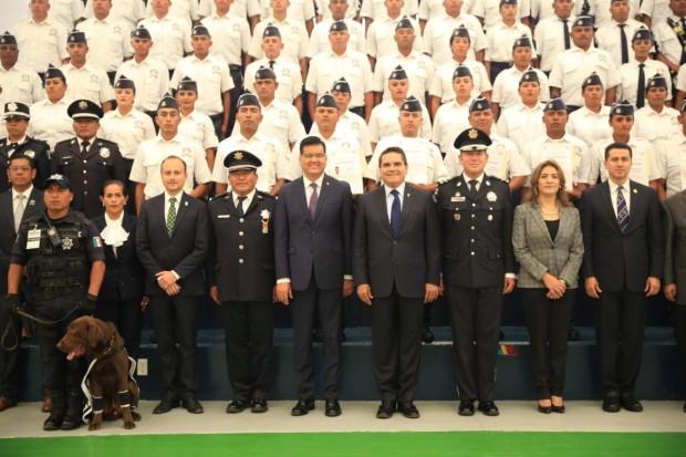 Preside SAC la ceremonia de clausura del Curso de Formación Inicial para Policía Michoacán, Quinta Generación