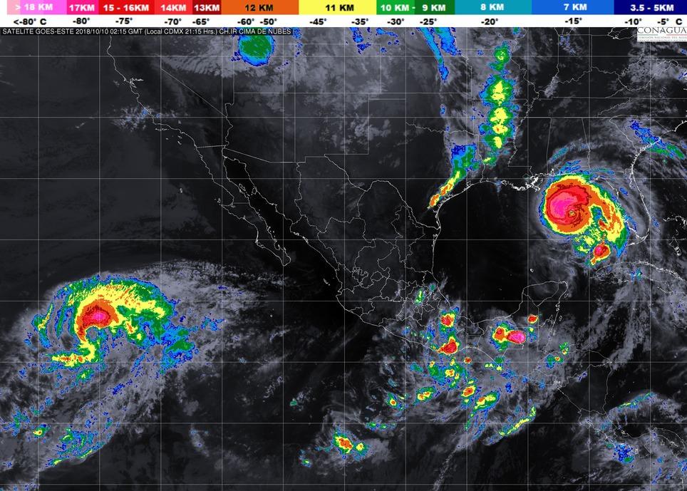 Lluvias puntuales  fuertes en Michoacán, la noche de este martes