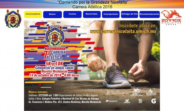 "Esta semana es la 7ª Carrera Atlética ""Grandeza Nicolaita"""