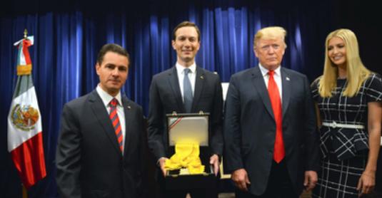 Enrique Peña Nieto condecora con la Orden Mexicana del Águila Azteca a Jared Kushner