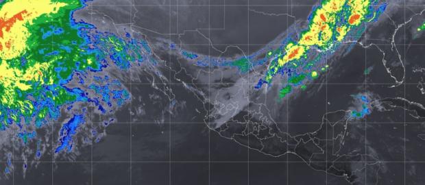 Pacífico Centro: Cielo parcialmente nublado y ambiente caluroso durante el día. Viento del sur de 10 a 25 km/h., este martes.