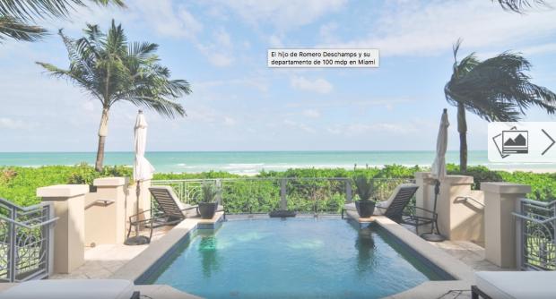Hijo de Romero Deschamps adquiere lujosa villa en Miami en 104 millones de pesos