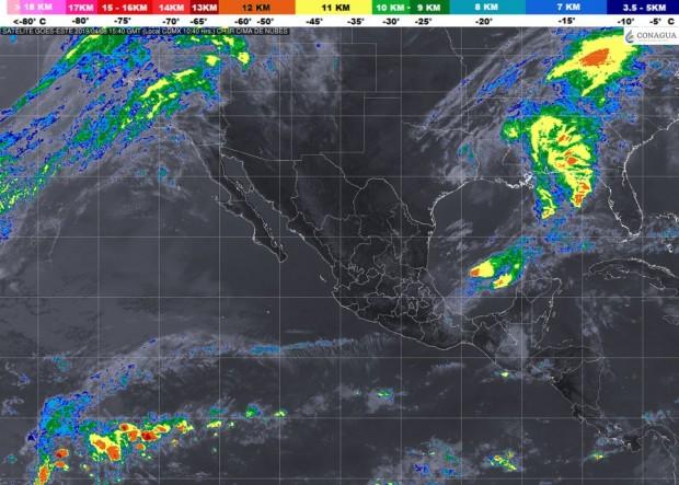 Lluvias aisladas (0.1 a 5.0) en Michoacán. Ambiente caluroso durante el día, este lunes