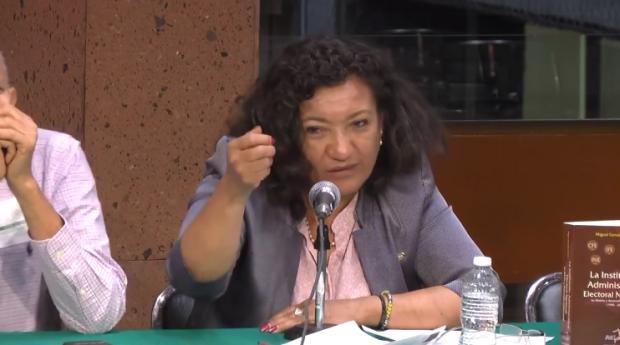 Diputada María Chávez prepara iniciativa para eliminar institutos electorales locales