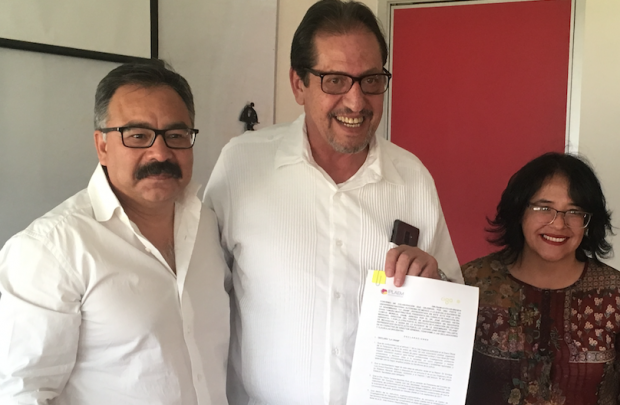 Firman Convenio CIGA, UNAM-Campus Morelia y el IPLAE