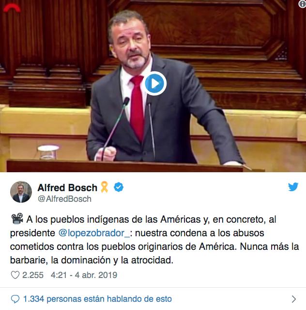Gobierno de Cataluña reconoce abusos que padecieron los pueblos originarios de América durante la Conquista