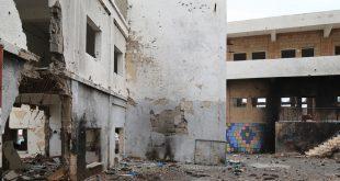 Escuela de la ciudad de Taizz dañada por el conflicto en Yemen