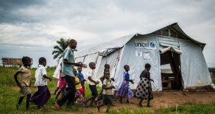 Escuela provisional en la región de Kasai, en la República Democrática del Congo.