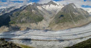 El glaciar más grande de los Alpes Suizos, Aletschgletscher, se está derritiendo rápidamente y podría desaparecer para 2100.