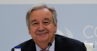El Secretario General, António Guterres, se dirige a la prensa antes del inicio de la Conferencia COP25 en Madrid.