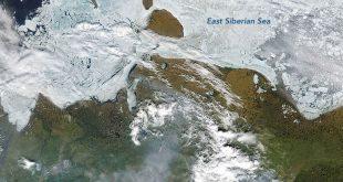Incendios forestales en Siberia en 2020 vistos desde el espacio.